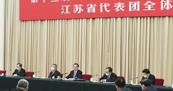 李克强参加江苏代表团审议