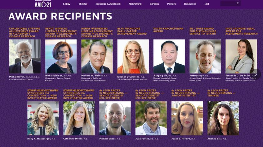祝贺!我国首位学者荣获阿尔茨海默病研究领域国际大奖