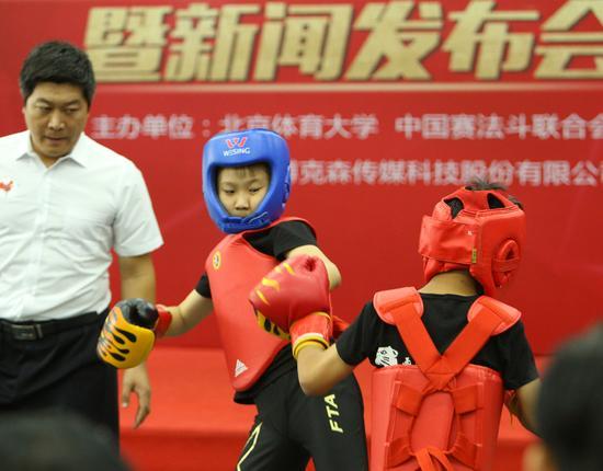 Lancement du projet d'échanges sportifs sino-français « Kungfu et savate » à Beijing
