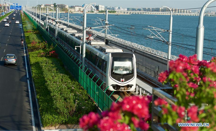 Fin des essais de 6 jours du métro avec vue sur la mer de Xiamen
