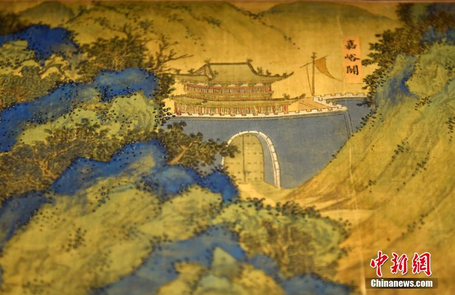 Carte Chine Ming.La Peinture Carte Des Paysages De La Route De La Soie Exposee A