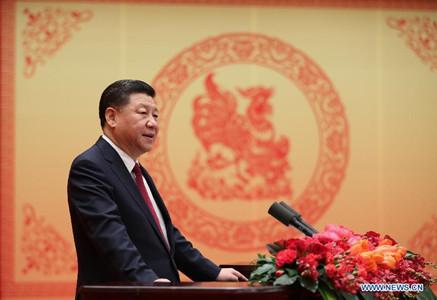 Chinesische Spitzenpolitiker sprechen Grußworte zum Frühlingsfest ...
