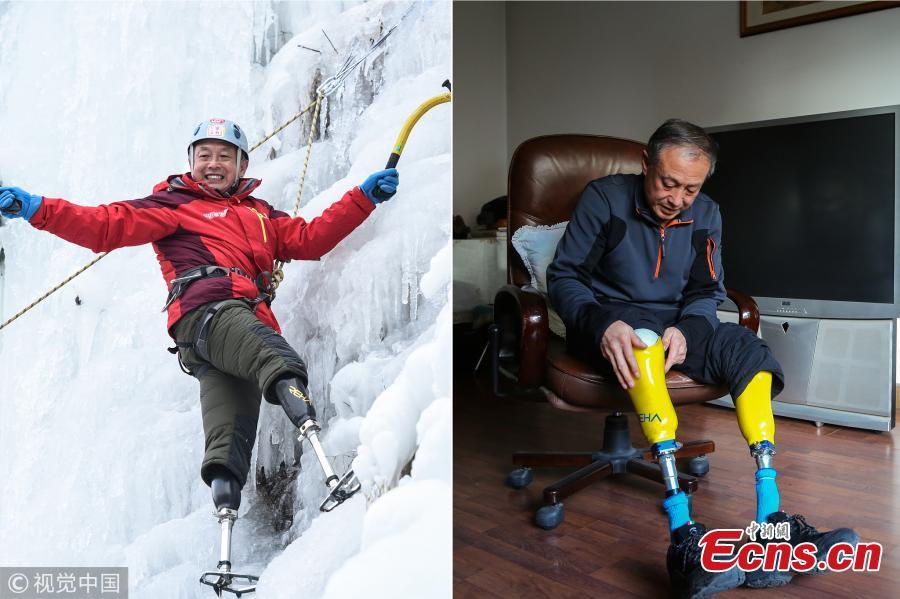 Mann ohne Beine möchte den höchsten Gipfel der Erde