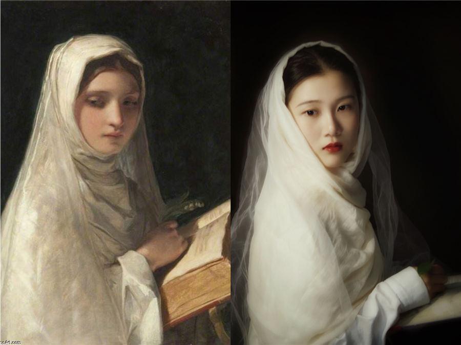 Gemälde Nachstellen