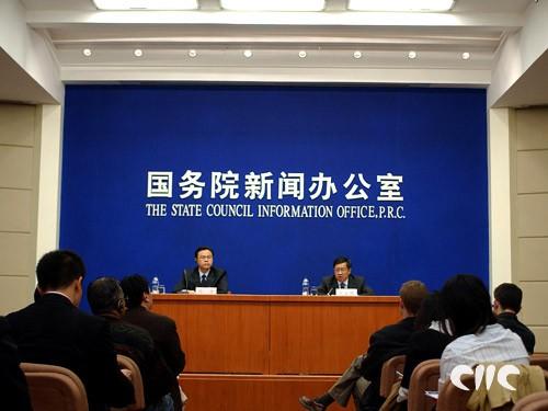 国新办就博鳌亚洲论坛2007年年会筹备情况举行发布会现场