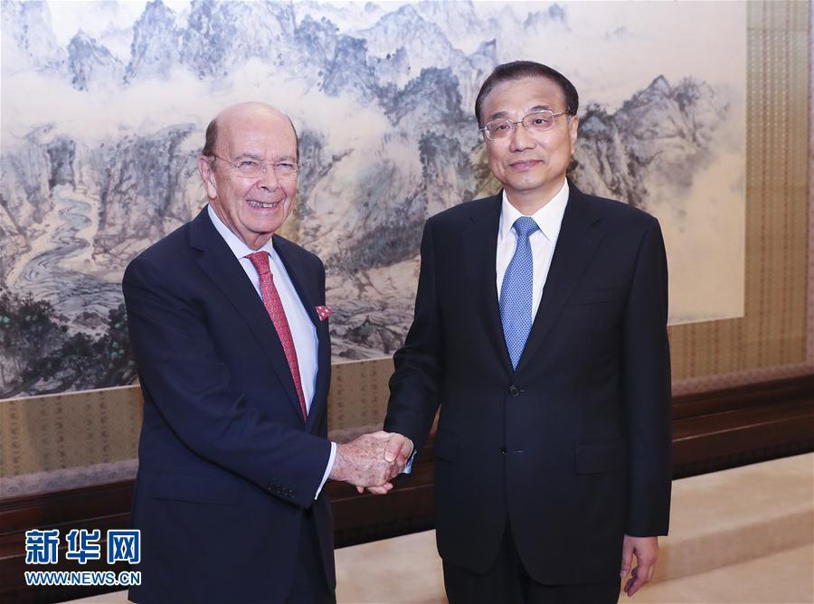 李克強総理が米商務長官と会談