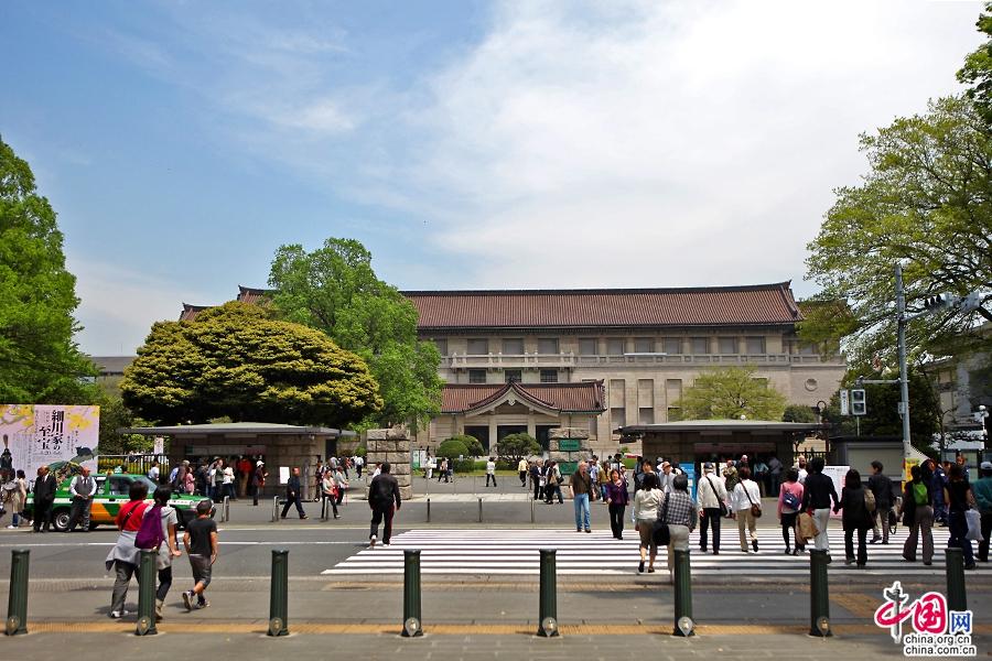 东京国立博物馆位于上野公园最北侧