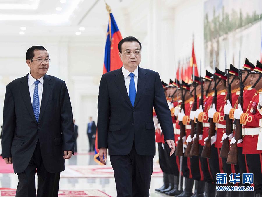 李克強総理とカンボジアのフン・セン首相が会談