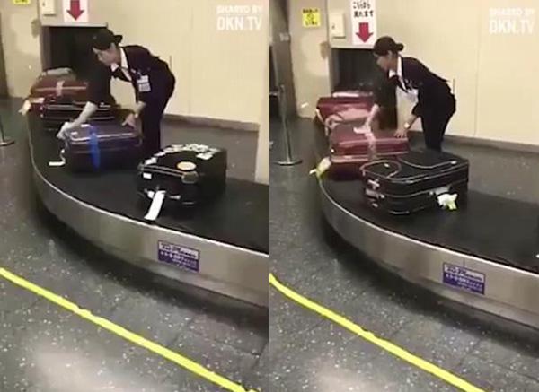 日本の空港スタッフ 乗客のスーツケース拭く姿が絶賛される