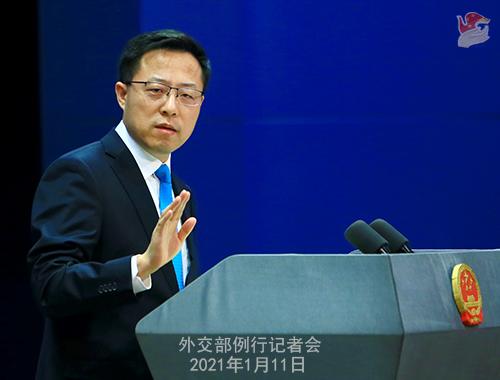 外交部、「米国と台湾地区の交流の制限撤廃」との発言を批判