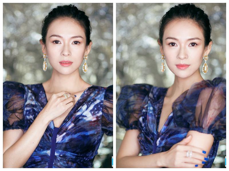 Кинозвезда Чжан Цзыи в коммерческой акции роскошного бренда ювелирных украшений