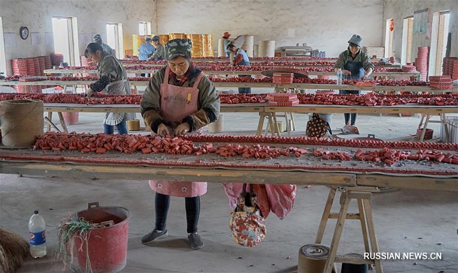 Производство петард в Люяне