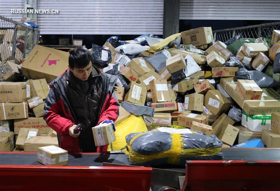 Логистический сектор Китая переживает пиковую нагрузку после массовых онлайн-распродаж по случаю Дня холостяков