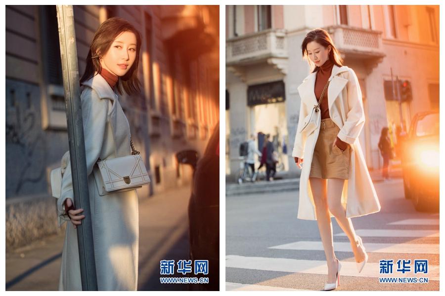 Телезвезда Шу Чан появилась на улице