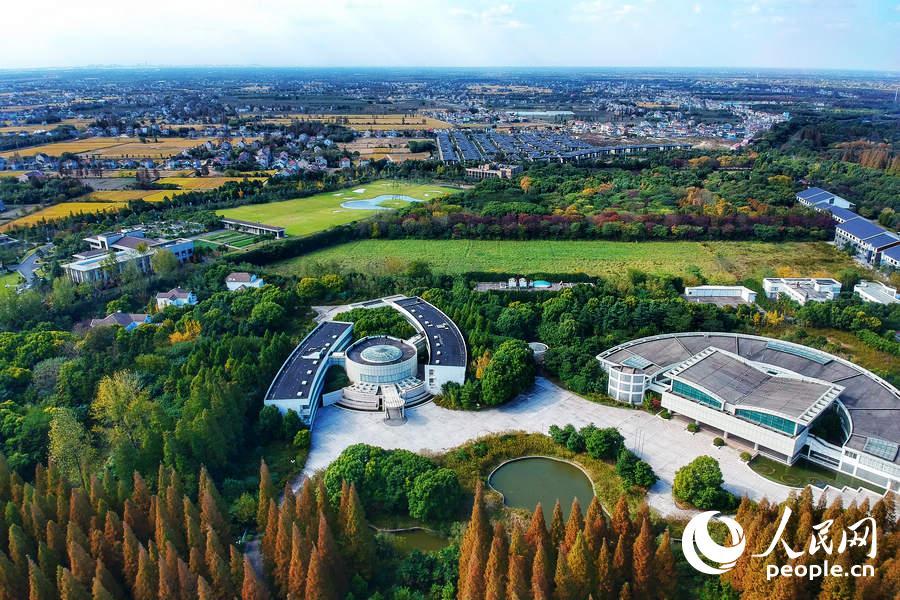 Очаровательный пейзаж района Чунмин, Шанхай, в начале зимы