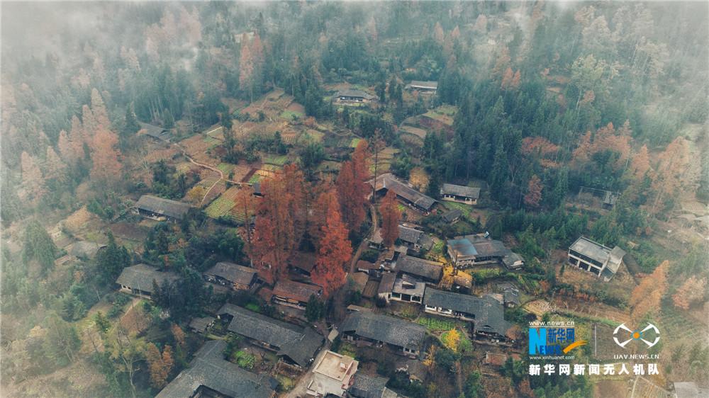 Китай с высоты птичьего полета - прекрасные пейзажи в городе Личуань провинции Хубэй
