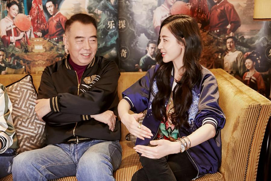 Красавица Чжан Тяньай на мероприятии в честь фильма «Легенда о коте-демоне»