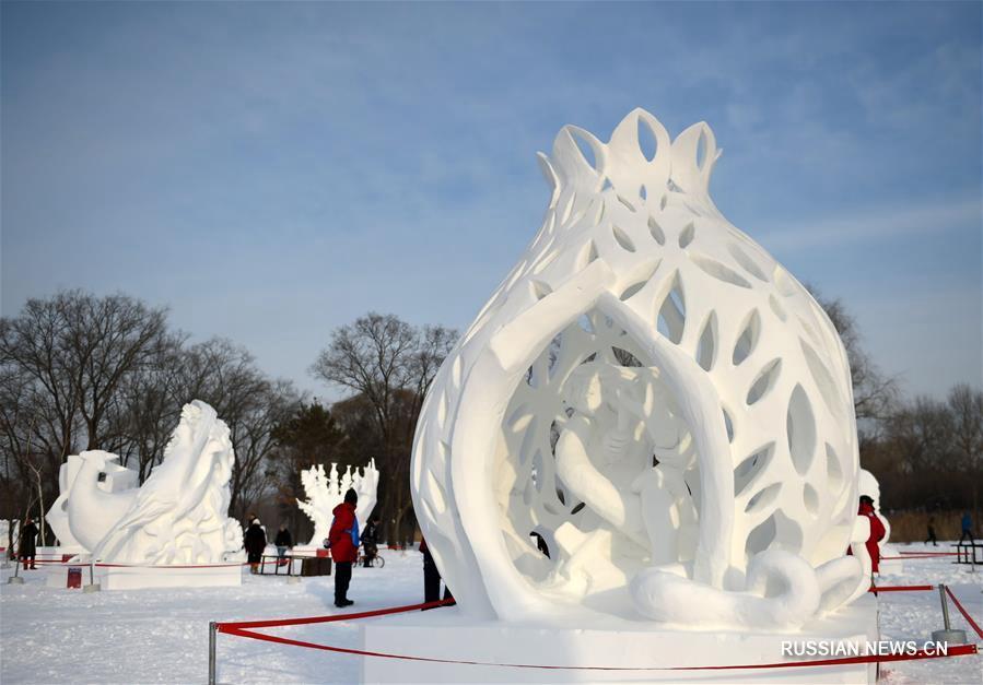 В Харбине завершился 23-й международный конкурс на лучшую снежную скульптуру