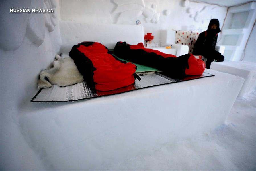 Гостиница из льда и снега в уезде Мохэ