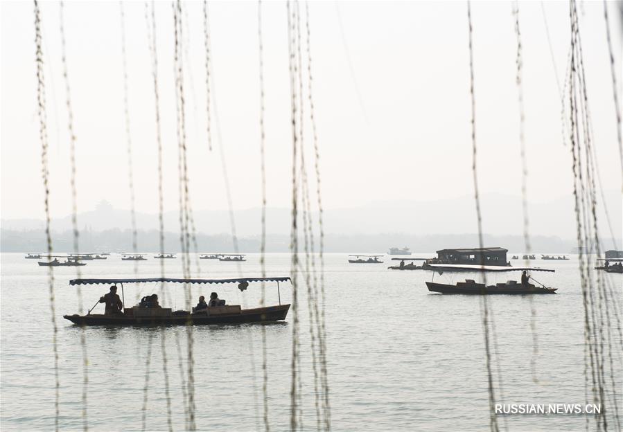 Весенние пейзажи озера Сиху