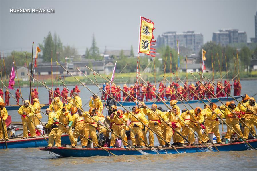 Открытие Циньтунского лодочного фестиваля в Тайчжоу