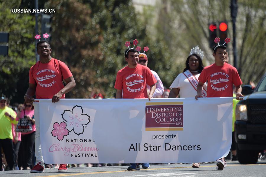 В Вашингтоне состоялся традиционный парад, посвященный фестивалю цветущей сакуры