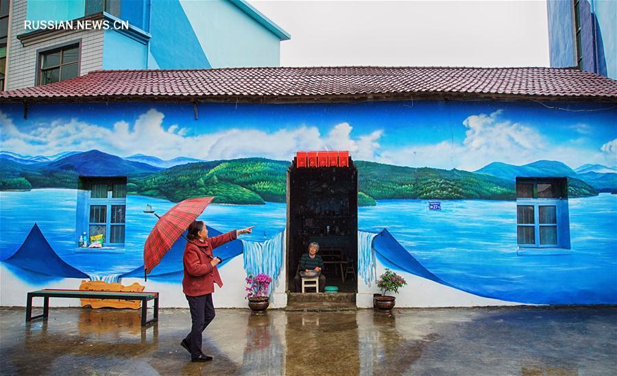 Настенные рисунки в провинции Цзянси