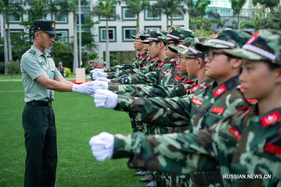 """Более 300 аомэньских школьников собрались в лагере """"Общение под государственным флагом КНР"""""""
