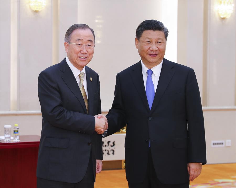 Си Цзиньпин встретился с председателем Совета Боаоского азиатского форума Пан Ги Муном