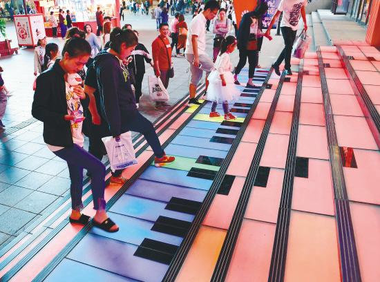 В Шэньяне провинции Ляонин появились «лестницы пианино»