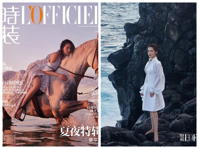 Популярная актриса Ли Цинь попала на обложку модного журнала L'OFFICIEL