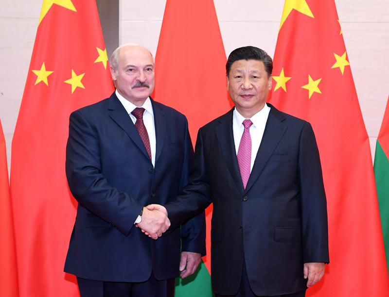 Встреча Си Цзиньпина с президентом Беларуси А. Лукашенко