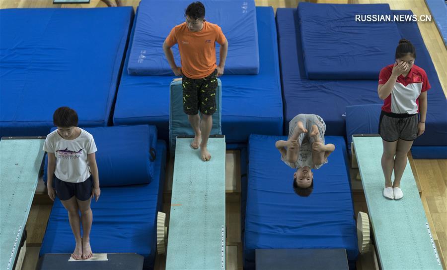 Прыжки в воду -- Сборная Китая готовится к Азиатским играм 2018