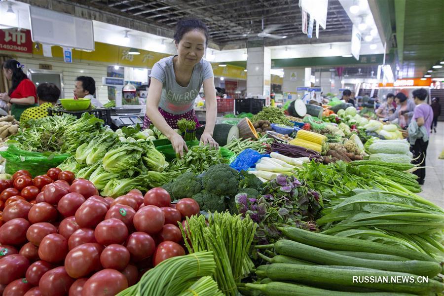 В августе индекс потребительских цен в Китае вырос на 2,3 проц.