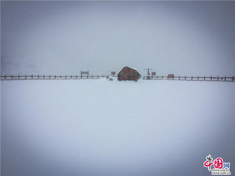 Сказочный мир в турзоне ледяной горы Дагу в провинции Сычуань