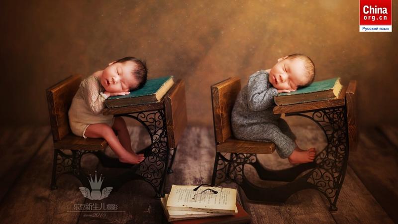 Фото новорожденных набирают популярность в Китае