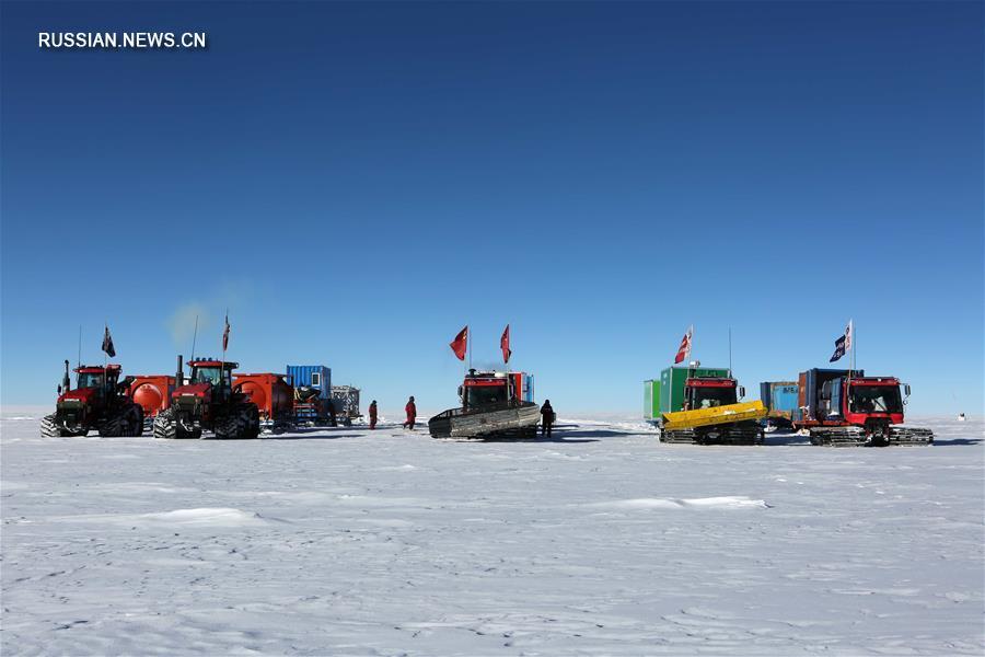Участники китайской антарктической экспедиции достигли плато Dome A