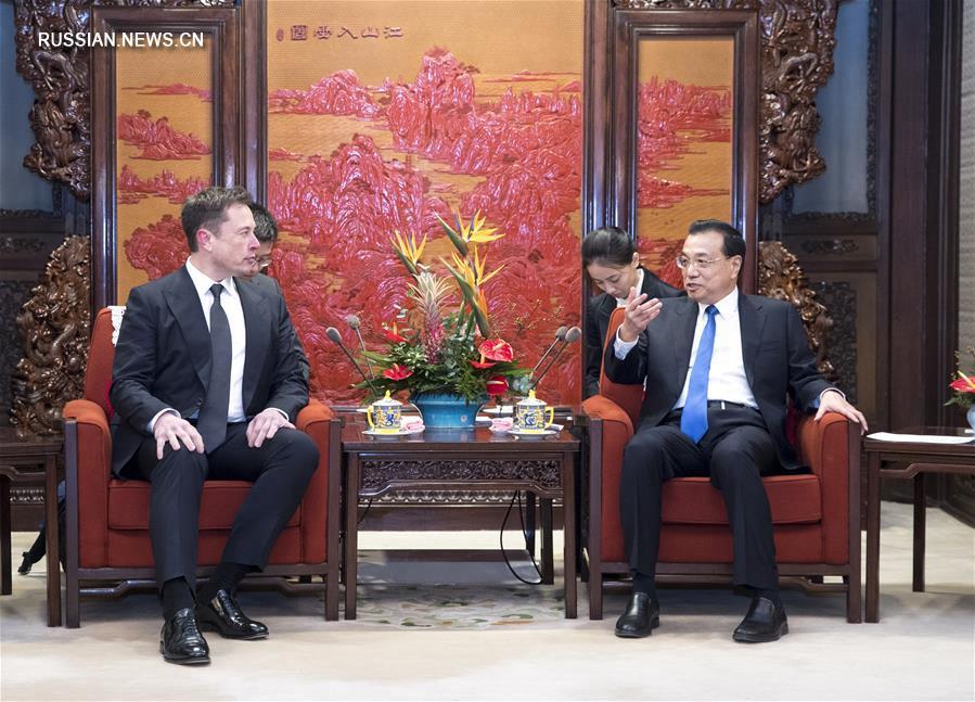 Ли Кэцян встретился с гостями из США
