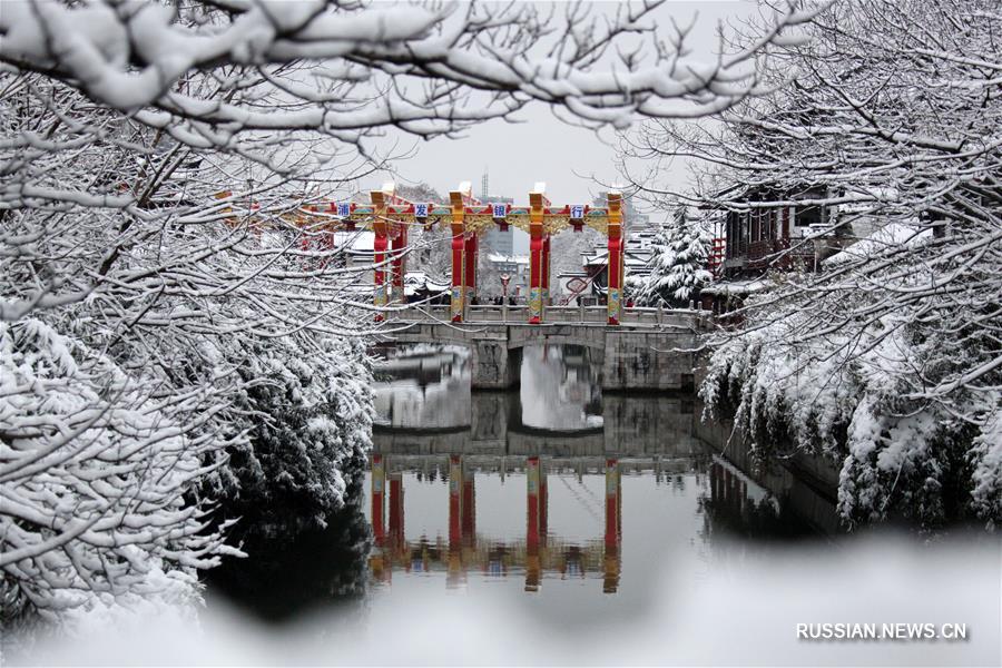 Снежные пейзажи Нанкина