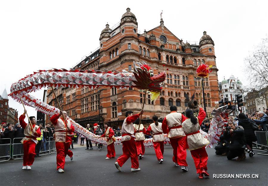 В Лондоне прошли праздничные мероприятия по случаю китайского праздника Весны