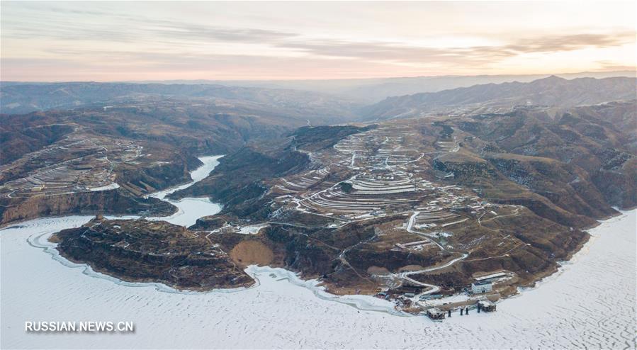 Снежные пейзажи Внутренней Монголии