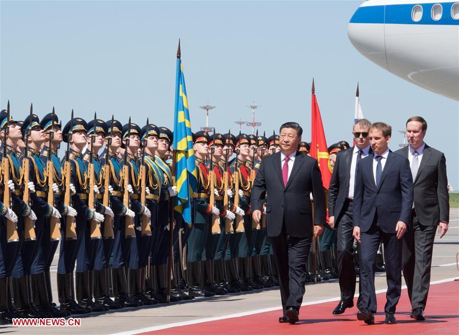 Председатель КНР Си Цзиньпин прибыл в Москву с государственным визитом в РФ