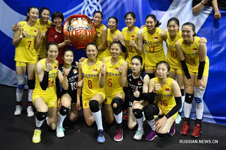 Женская сборная Китая по волейболу получила путевку на Олимпийские игры-2020 в Токио