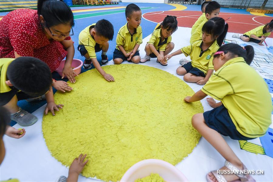 Малыши из провинции Чжэцзян встречают Праздник середины осени