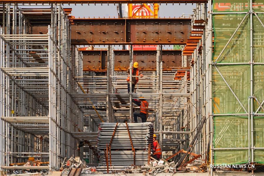 Завершилось строительство основных подземных конструкций железнодорожного вокзала нового района Сюнъань