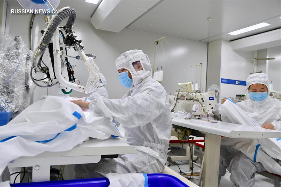 В провинции Фуцзянь наращивается производство противоэпидемических средств