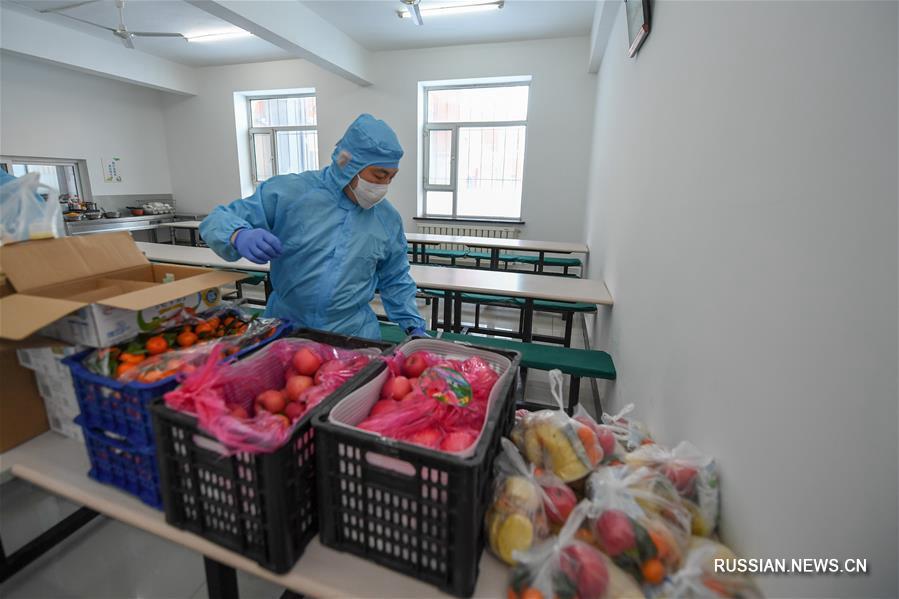 Борьба со вспышкой коронавирусной инфекции -- Волонтеры организовали доставку горячей еды в Чанчуне