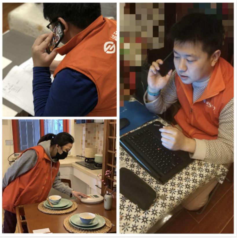 Работники пунктов каждый день связываются по телефону с одинокими стариками с целью обеспечения здоровья и безопасности пожилых людей