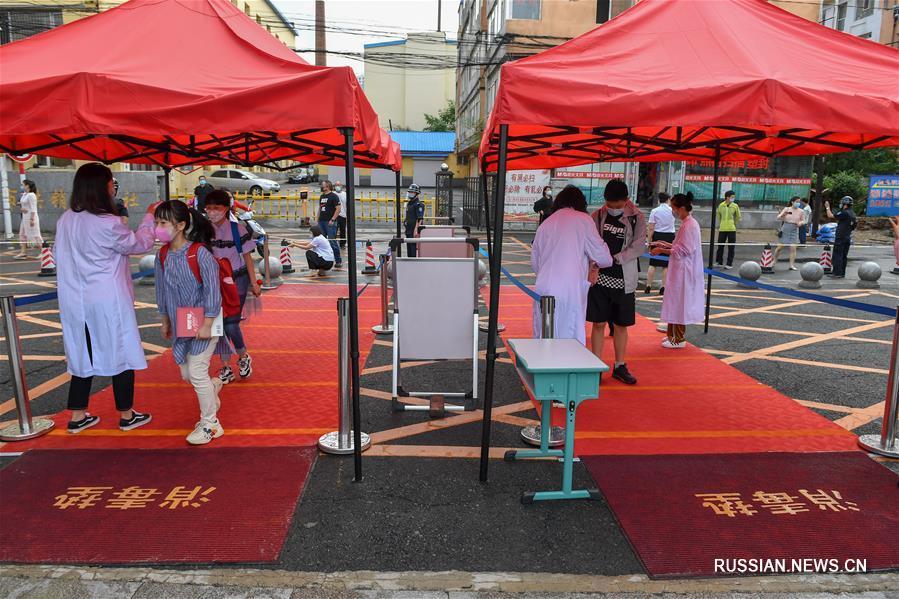 Учебный процесс восстановлен для некоторых классов средних школ в городе Цзилинь