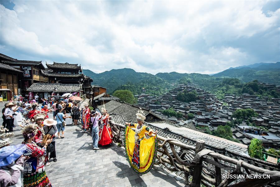 Живописная мяоская деревня в Гуйчжоу ждет гостей
